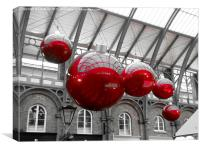 Christmas Baubles, Canvas Print