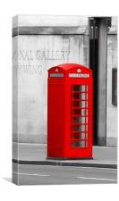 Red Phone Box, Canvas Print