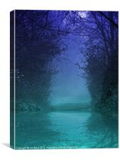 Mystic Forest Pool, Canvas Print