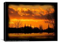 Suffolk Sunset, Canvas Print