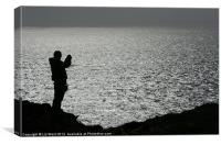 Lone Photographer, Canvas Print