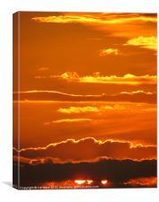 Burning Sky, Canvas Print