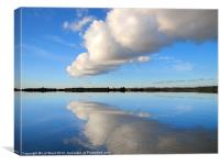 Fluffy Cloud over Hanningfield, Canvas Print