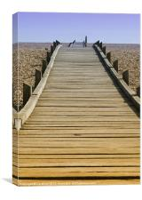 Dungeness Foot Path, Canvas Print