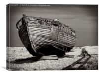Old Dungeness Boat, Canvas Print
