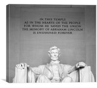 Lincoln Memorial Washington DC, Canvas Print