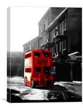 London Double Decker Bus, Canvas Print