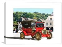 Red Ford Model T, Canvas Print
