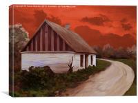 Storm Cottage, Canvas Print