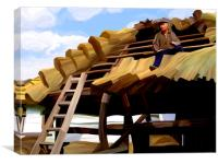 Thatching the Wellhouse