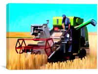 Combine Harvester, Canvas Print
