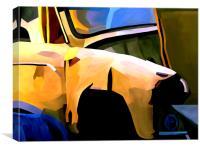Scrap Car Abstract, Canvas Print