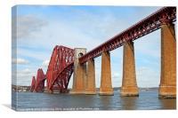 the forth rail bridge, Canvas Print