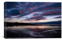 sun set beach, Canvas Print