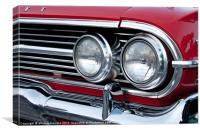 1960s chevrolet impala, Canvas Print