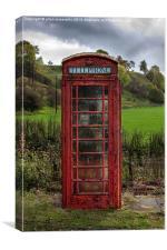RED PHONE BOX , Canvas Print