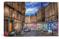 Victoria street Edinburgh, Canvas Print