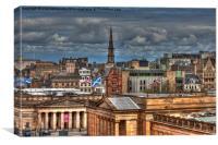 Edinburgh roof tops, Canvas Print