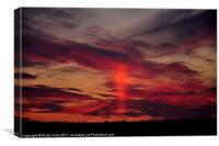 Sun Pillar Sunset, Canvas Print