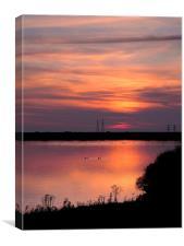 Dungeness sunset, Canvas Print