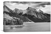 Jasper Mountains, Canvas Print