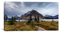 Bow Lake, Canvas Print