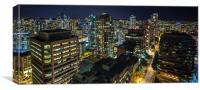 Vancouver cityscape, Canvas Print