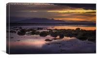 Sunset over Arran Scotland, Canvas Print