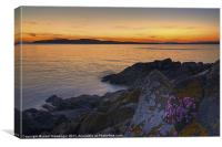 Portencross Sunset Scotland, Canvas Print