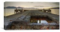 Portencross jetty Sunset, Canvas Print