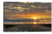 scotland sunset, Canvas Print
