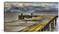 Portencross jetty, Canvas Print