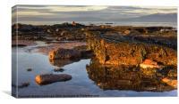 North beach Ardrossan morning, Canvas Print