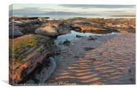 Sunrise on the Beach, Canvas Print