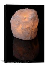 Quartz rock Backlit, Canvas Print