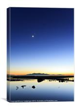 Ardrossan New Moon, Canvas Print