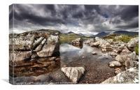 Rannoch Moor  Scotland, Canvas Print