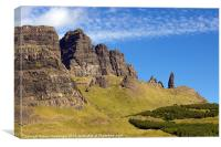 Old Man of Storr., Canvas Print