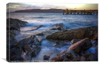 Sunset over Cumbrae, Canvas Print