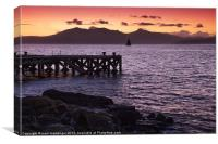 Arran Sunset, Canvas Print