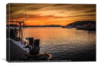 Oban Sunset, Canvas Print