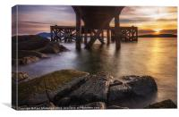 Under the Jetty., Canvas Print