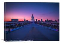 Millennium Bridge London, Canvas Print
