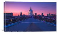 Millennium Bridge, London, Canvas Print