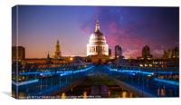 Millennium Bridge Sunset, Canvas Print