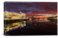 Glasgow Science Centre, Canvas Print