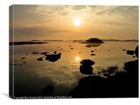 sunrise at lough corrib, Canvas Print
