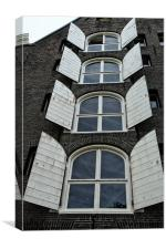amsterdam canal house, Canvas Print