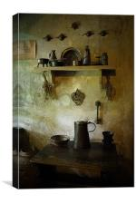 mediaeval kitchen, Canvas Print
