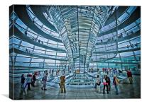 Reichstag dome, Canvas Print